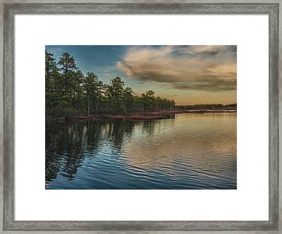 River Reflections On The Mullica River Framed Print by Louis Dallara