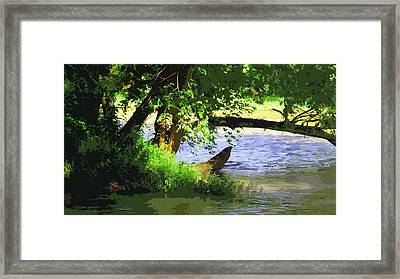 River Ripple Voices Framed Print by Charlie Spear