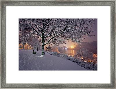 Framed Print featuring the photograph River Road  by Emmanuel Panagiotakis