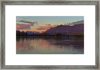 Fraser River, British Columbia Framed Print