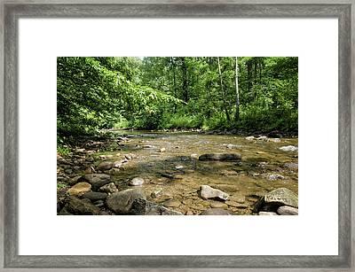 River Rock Shine  Framed Print