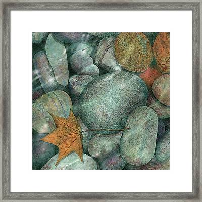 Framed Print featuring the painting River Rocks by John Dyess