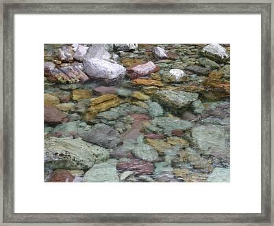 River Rocks Framed Print by Lisa Patti Konkol