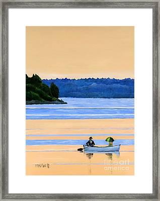 River Romance Framed Print