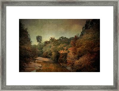 River Run Off In Autumn Framed Print