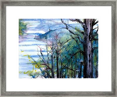 River Scene Framed Print by Tom Hefko