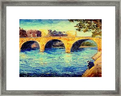 River Seine Bridge Framed Print