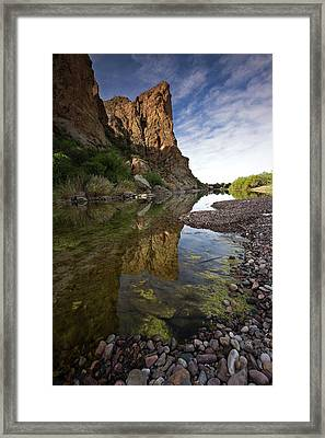 River Serenity Framed Print by Sue Cullumber