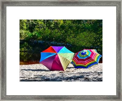 River Shade Framed Print