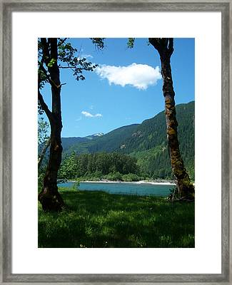 River Shade Framed Print by Ken Day