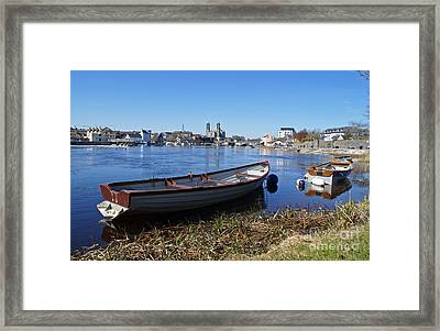 River Shannon At Athlone Framed Print