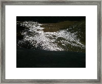 River Shimmer Framed Print by Trish Hale