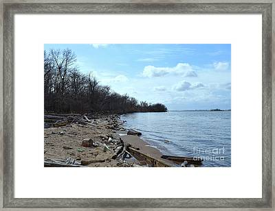 Delaware River Shoreline Framed Print