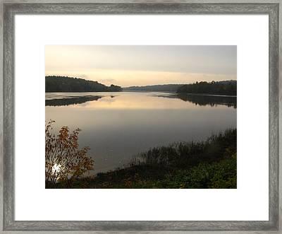 River Solitude Framed Print