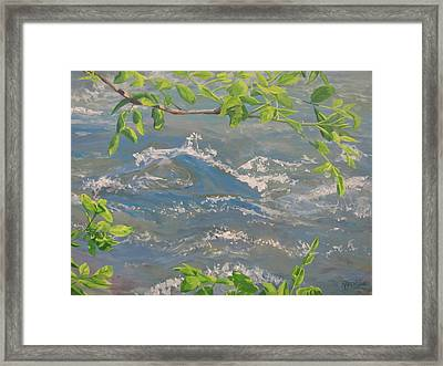 Framed Print featuring the painting River Spring by Karen Ilari