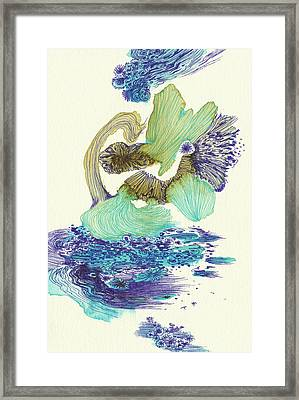River - #ss18dw004 Framed Print by Satomi Sugimoto
