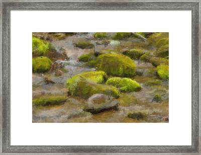 River Stones Framed Print by Paul Bartoszek