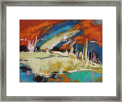 River Storm Framed Print by John Williams