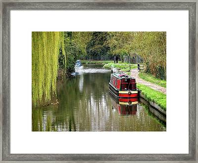 Framed Print featuring the photograph River Stort In April by Gill Billington