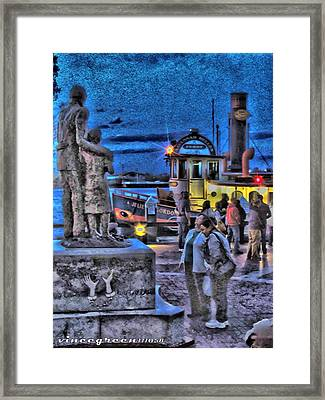 River Street Blues Framed Print