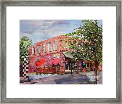 River Street Tavern-ellijay, Ga - Cheers Framed Print by Jan Dappen