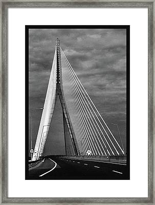 Framed Print featuring the photograph River Suir Bridge. by Terence Davis