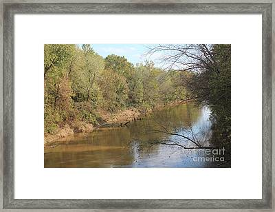 River Sun Framed Print by Amy Wilkinson