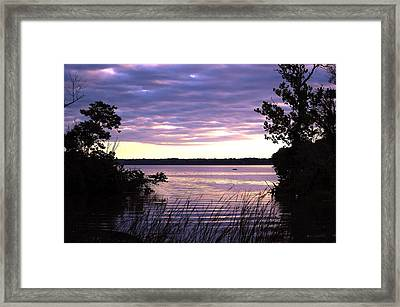 River Sunrise Framed Print