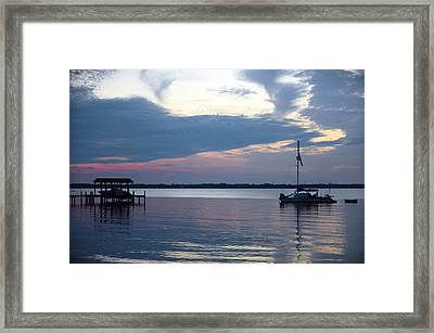 Framed Print featuring the photograph River Sunset by Anthony Baatz