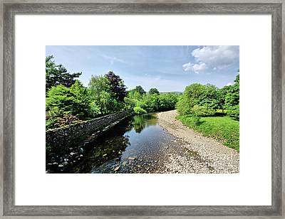 River Swale, Grinton Framed Print by Nichola Denny