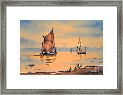 River Thames At Greenwich London Framed Print by Bill Holkham