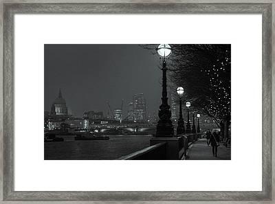 River Thames Embankment, London 2 Framed Print