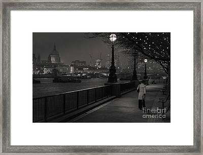 River Thames Embankment, London Framed Print