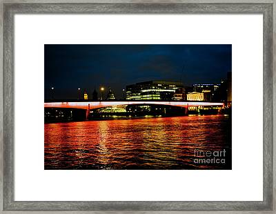 River Thames, In London Framed Print