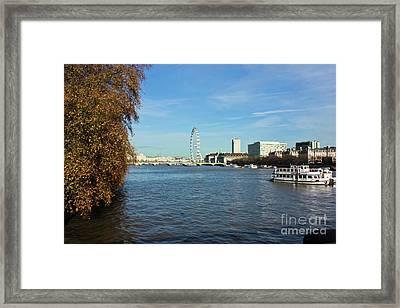 River Thames London Framed Print by Terri Waters