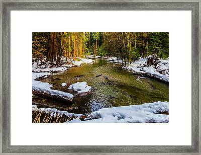 River Through Meadow Framed Print by Garry Gay