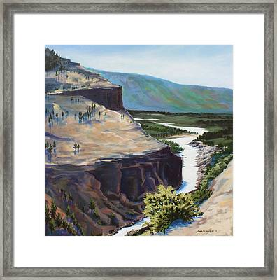 River Through The Canyon Framed Print