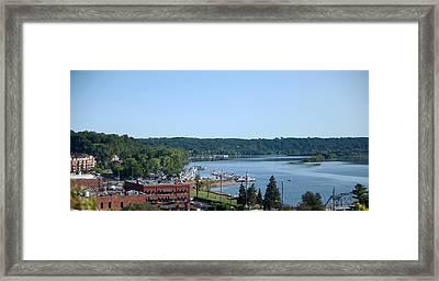 River Town Framed Print