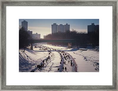 River Trail Framed Print by Bryan Scott