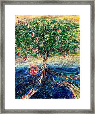 River Tree Framed Print by Laurie Parker