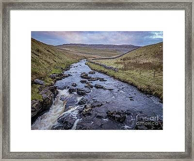 River Twiss, Ingleton Framed Print by Peter Stuart