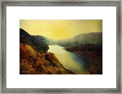 River Valley Sunrise Framed Print by RC deWinter