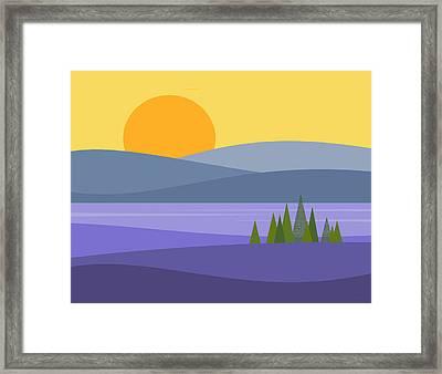 River Valley Sunrise - Sunrise Framed Print