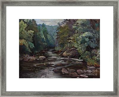 River Valley Visit Framed Print by Maris Salmins