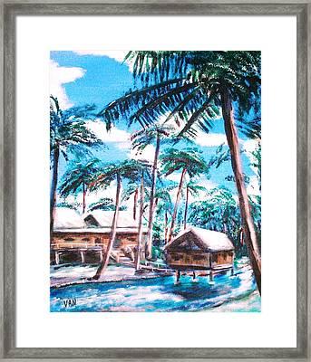 River Framed Print by Van Winslow