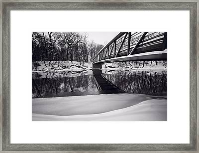 River View B And W Framed Print