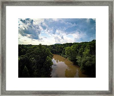 River View From Above Framed Print