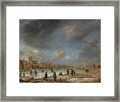 River View In The Winter Framed Print by Celestial Images
