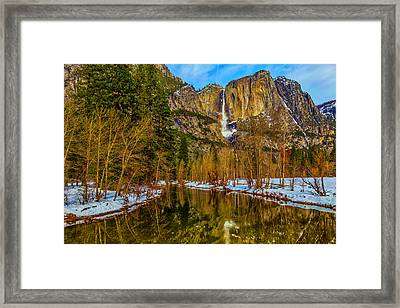 River View Yosemite Falls Framed Print by Garry Gay