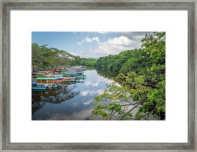 River Views In Negril, Jamaica Framed Print